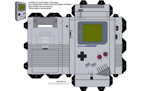 Gameboy Papercraft - 40 amazing papercraft templates for the inside you