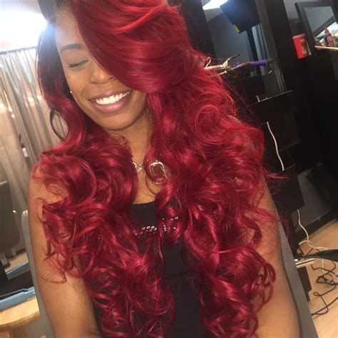 sew ins with color custom color w sew in curly hair