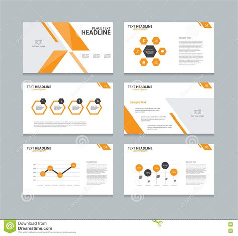 presentation layout design templates page presentation layout design template stock vector