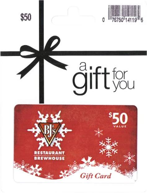 Bjs Gift Card - bj s restaurant holiday gift card 50 shop giftcards