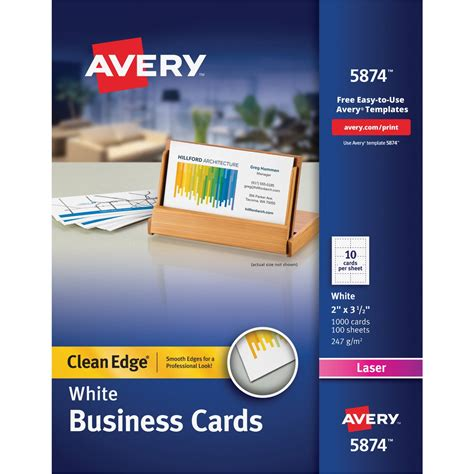 5882 lasaer clean edge business card template avery clean edge business card ld products