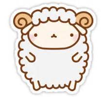 quot cute sheep quot stickers by tofusan redbubble