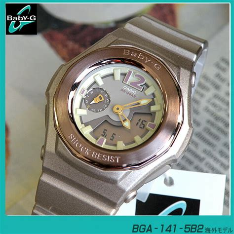 Casio Bga 141 5b 楽天市場 送料無料 casioカシオbaby gベビーg ベイビージー bga 141 5b2 ピンクゴールド