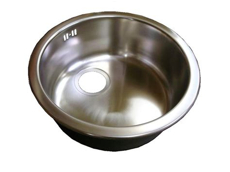caravan kitchen sinks leisure round bowl stainless steel insert sink brushed