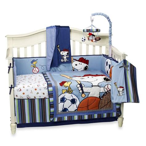 snoopy crib bedding lambs ivy 174 team snoopy 4 piece crib set and accessories