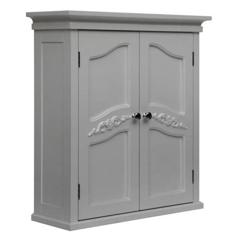 White Two Door Cabinet Yvette White 2 Door Wall Cabinet Overstock Shopping Great Deals On Home Fashions