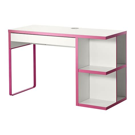 ikea desk storage micke desk with integrated storage white pink ikea