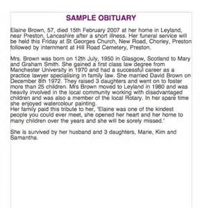 funeral biography template 25 obituary templates and sles template lab
