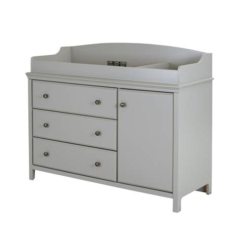 Detachable Changing Table South Shore Cotton Changing Table With Removable Changing Station Soft Gray