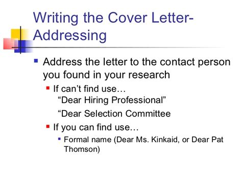 writing a cover letter without a contact name when writing a cover letter to unknown person
