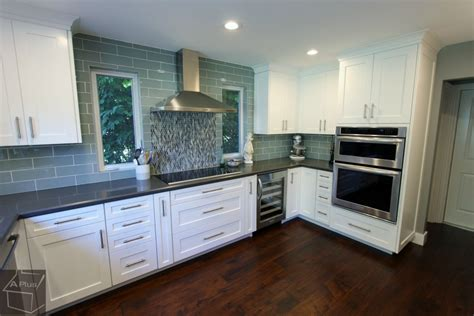 kitchen cabinets transitional style transitional style gray white g shaped kitchen remodel