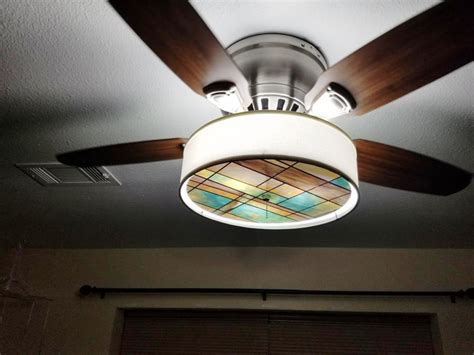 ceiling fan with stained glass light stained glass ceiling fan light kit home design