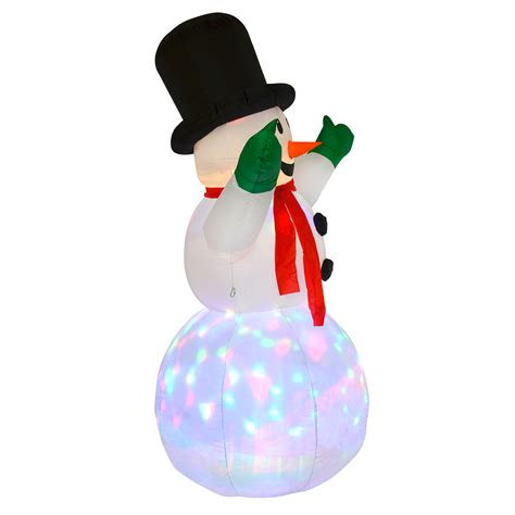 Light Up Outdoor Snowman Xl 6ft Snowman Outdoor Decoration Light Up Led Display