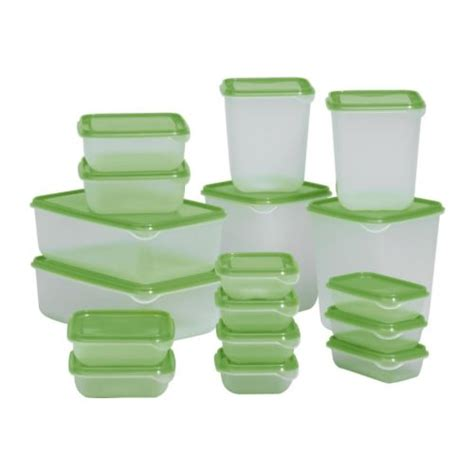 Ikea Pruta pruta food container set of 17 ikea