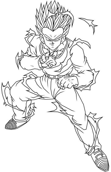 dragon ball z gotenks coloring pages dragon ball z gotenks coloring page coloring home