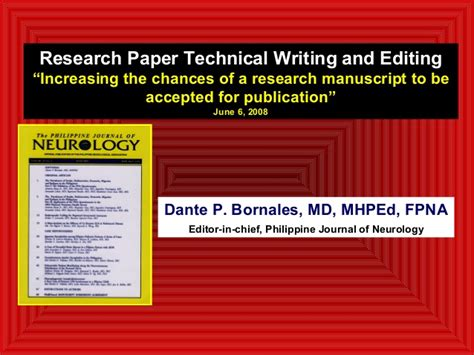 How To Make Technical Paper Presentation - research paper technical writing and editing powerpoint