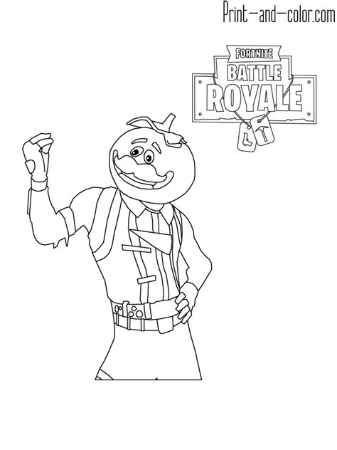 how to print in color fortnite coloring pages print and color