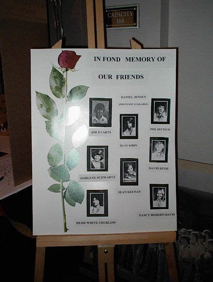 memorial ideas 17 best images about class reunion memorial on reunions memory table and
