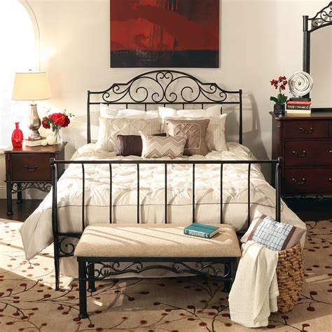Iron Bed Sets Tribecca Home Camelia Graceful Scroll Bronze Iron