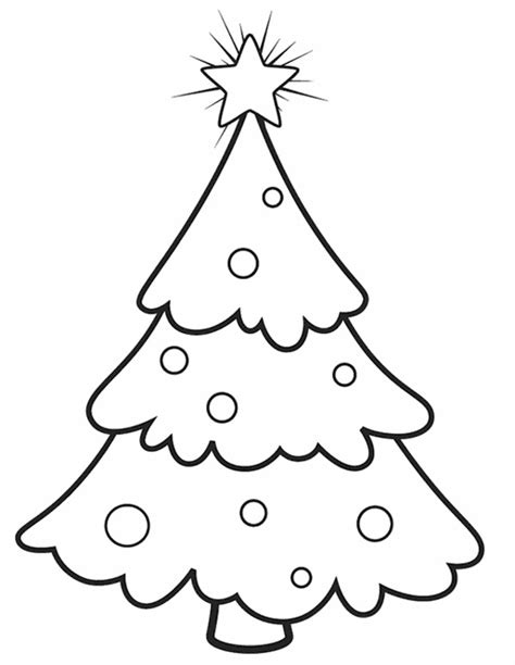 blank christmas tree coloring home