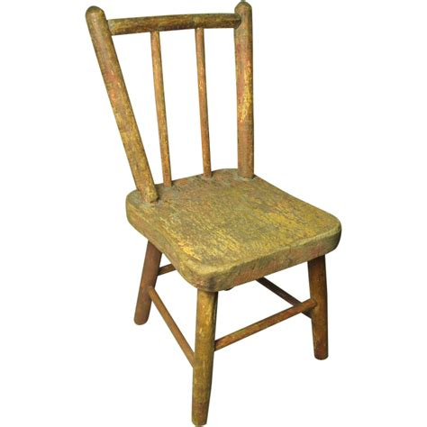 wooden doll chair charming early wooden painted doll chair