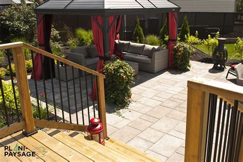 Dalle Pour Patio by Terrasse En Bois Sur Patio En Dalle