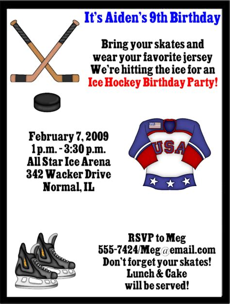 create your own hockey card template hockey birthday invitations ideas bagvania free