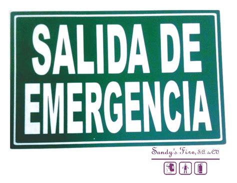 placas de salida de emergencia en mexico se 241 alamientos se 241 alamiento salida de emergencia 20x30