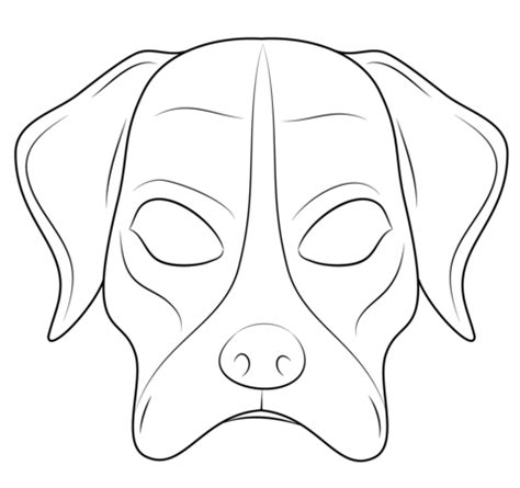 printable gas mask template dog mask coloring page free printable coloring pages