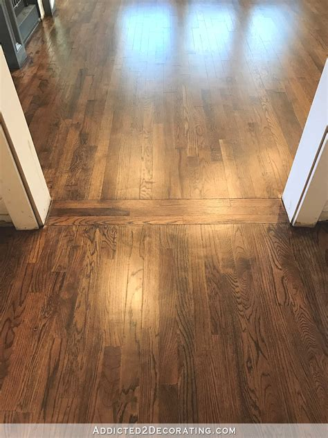 floor in my newly refinished oak hardwood floors