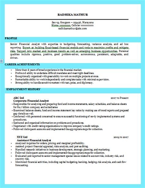 Excellent Exles Of Resumes by 10000 Cv And Resume Sles With Free Excellent Resume Sle For Business Analyst
