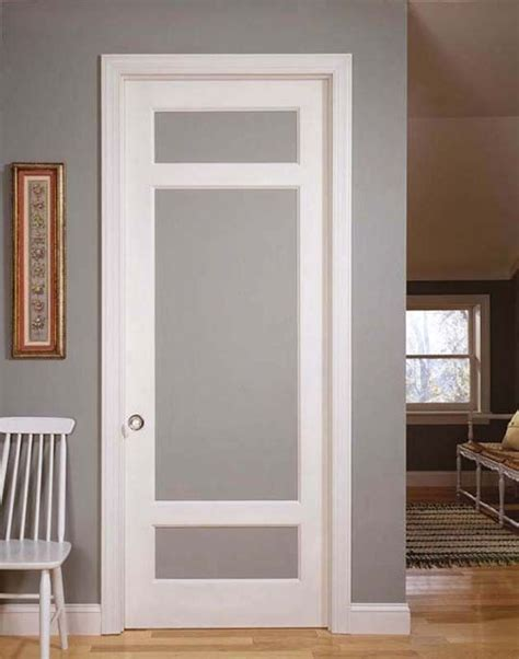 type  interior french doors  frosted glass   good