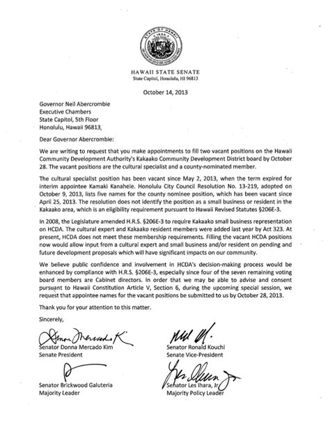 how to write a letter to a judge senate letter to gov 10 4 13 1314
