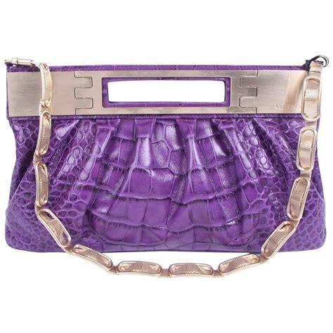 Sale Fashion Boneka Croco Yr9932 versace leather clutch croco print purple 2008 for sale at 1stdibs