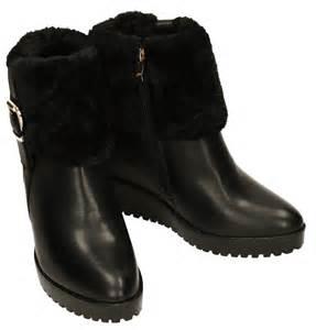 becca womens black collar fur lined winter warm