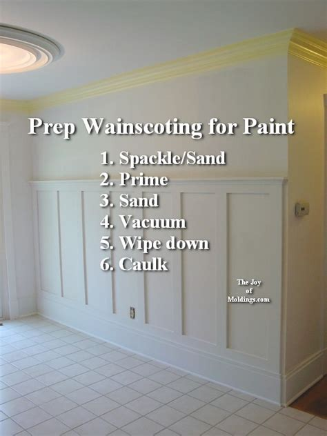 Refinishing Painting Kitchen Cabinets 2 wainscoting 100 tall how to paint the joy of moldings com