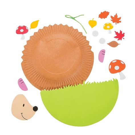 Hedgehog Paper Plate Craft - paper plate hedgehog craft kit paper plate crafts crafts