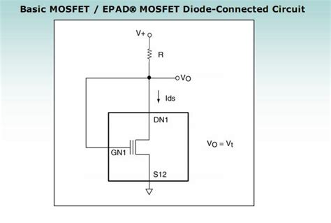 diode connected mosfet design diode connected mosfet voltage drop 28 images application specific mosfets transistor zener