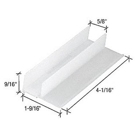 Sliding Shower Door Guide Crl M6221 Sliding Shower Door Bottom Guide Thebuilderssupply