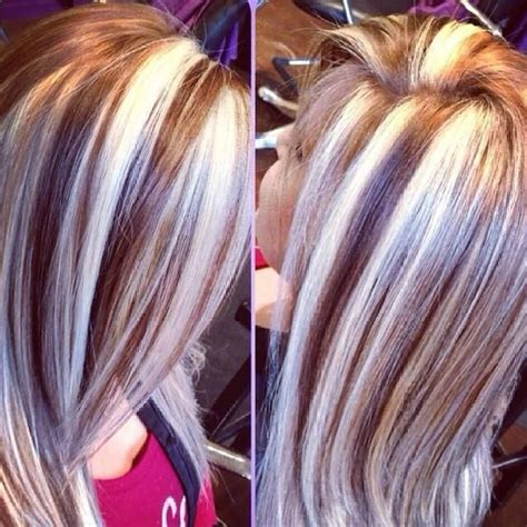 hairstyles with thick highlights chunky platinum highlights hair pinterest my hair
