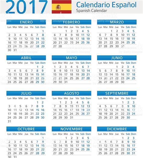 Calendario 2010 Usa Calendar 2017 Calendario Espanol 2017 Stock Vector