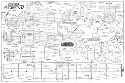 Vintage Cessna 140 Uc 42 Scale Model Airplane Plan Buildi kk cessna 170 plan