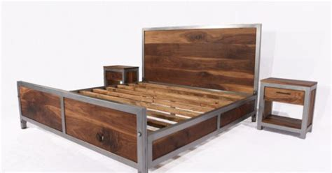 Solid Walnut Bedroom Furniture This Bedroom Set Is A Combination Of Solid Walnut And Steel We Fabricate Our Frames By