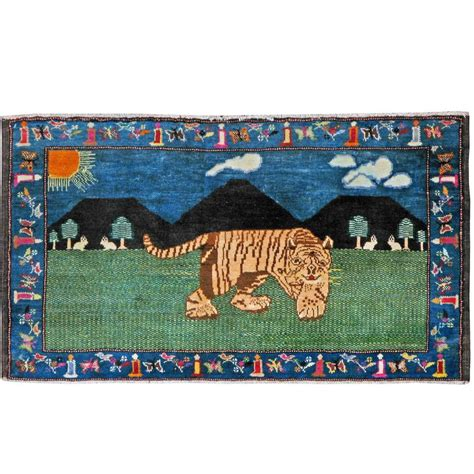 pictorial rug antique malayer pictorial rug for sale at 1stdibs