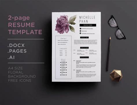 flower design resume 26 best images about floral cv resume templates on