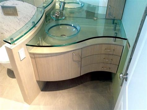 Curved Bathroom Furniture Custom Curved Bamboo Bath Vanity Contemporary Los Angeles By Serrao Cabinets Design