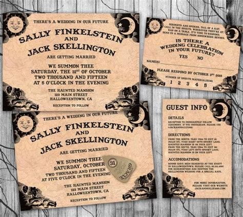 halloween wedding invitation suite ouija board invite
