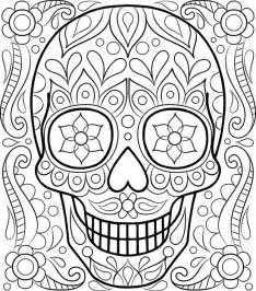 sugar skull coloring pages free sugar skull coloring page printable day of the dead