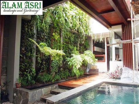 contoh pagar tembok tanaman hias  halaman rumah