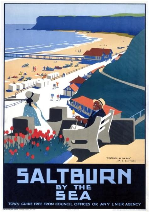 Poster Novel The And The Sea 40x60cm saltburn by the sea vintage lner travel poster